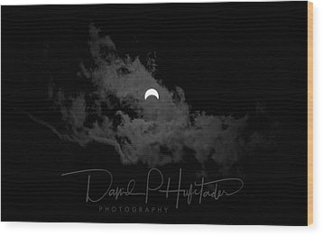 Partial Eclipse, Signed. Wood Print