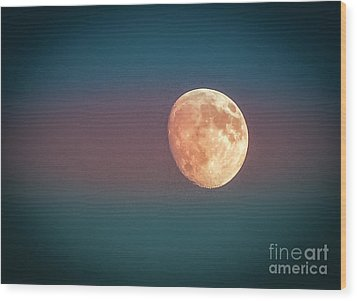 Partial Moon Wood Print by Claudia M Photography