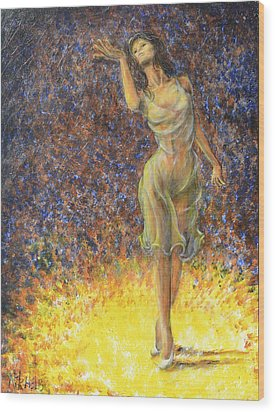 Parting Dancer Wood Print