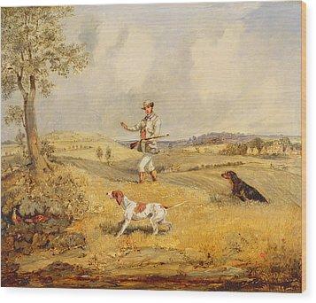 Partridge Shooting  Wood Print by Henry Thomas Alken