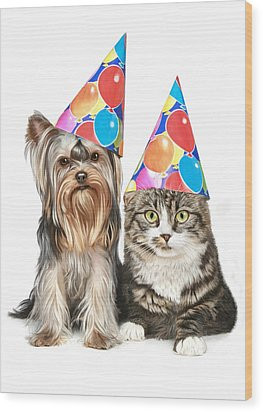 Party Animals Wood Print by Bob Nolin