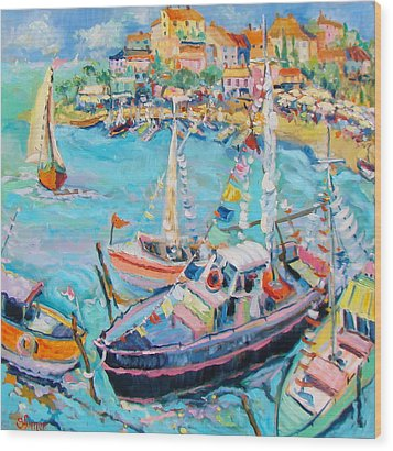 Party Boats Wood Print