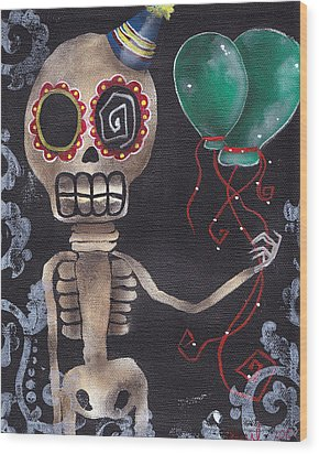 Party Killer Wood Print by  Abril Andrade Griffith