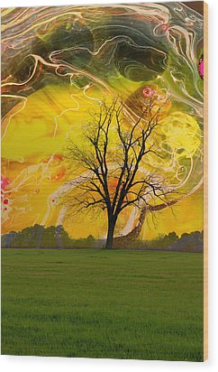 Party Skies Wood Print by Jan Amiss Photography