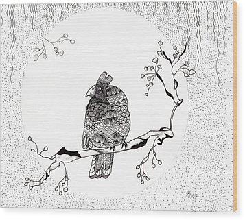 Party Time In Birdville Wood Print by Jan Steinle