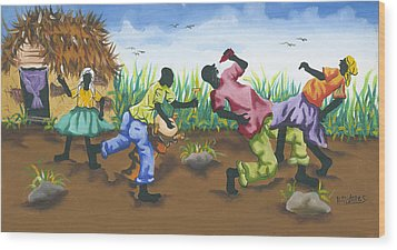 Partying Wood Print by Herold Alveras