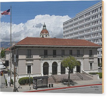 Pasadena's Plaza Station Post Office Wood Print