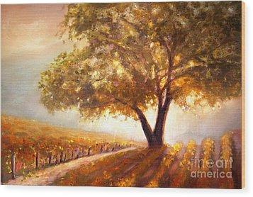 Paso Robles Golden Oak Wood Print