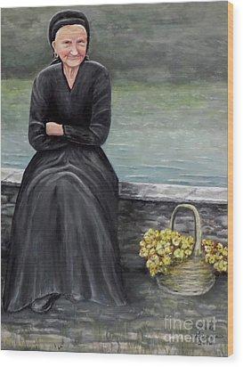 Pasqualina Di Scanno Wood Print by Judy Kirouac