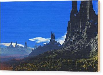 Pass Of Gormok Wood Print by David Jackson