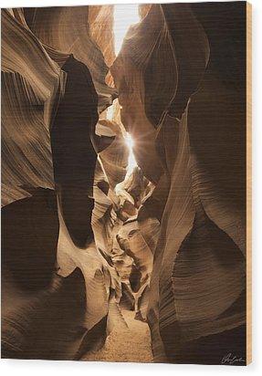 Passage At Antelope Canyon Wood Print