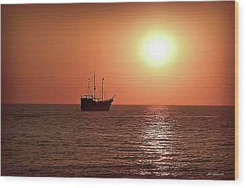 Wood Print featuring the photograph Passing By In Calm Waters by Joan  Minchak