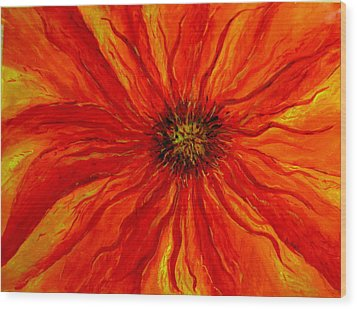 Passion Flower Wood Print by Arlene Holtz