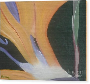 Wood Print featuring the painting Passion Unfolding 2 by Lori Jacobus-Crawford