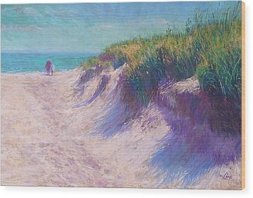 Past The Dunes Wood Print by Michael Camp