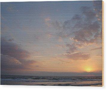 Pastel Breeze Wood Print by Cheryl Waugh Whitney