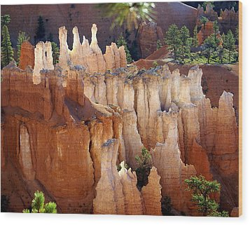 Pastel Bryce Wood Print by Marty Koch