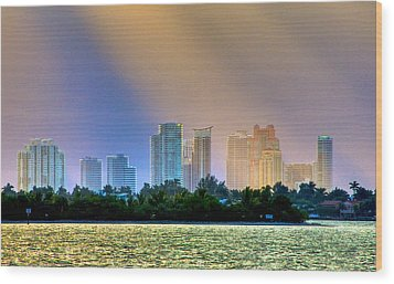 Pastel City Wood Print by William Wetmore