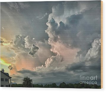 Pastel Clouds Wood Print by Walt Foegelle