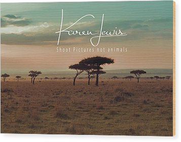 Wood Print featuring the photograph Pastel Dawn On The Mara by Karen Lewis