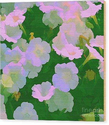 Pastel Flowers Wood Print by Tom Prendergast