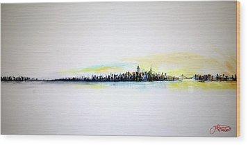 Pastel Morning Wood Print