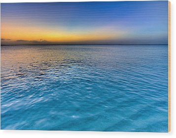 Pastel Ocean Wood Print by Chad Dutson