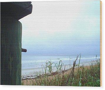Pastel Sky Wood Print by Cheryl Waugh Whitney