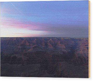 Pastel Sunset Over Grand Canyon Wood Print