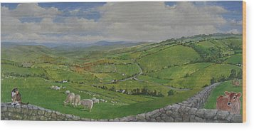 Wood Print featuring the painting Pastoral  by Cliff Spohn