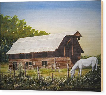 Patches Wood Print