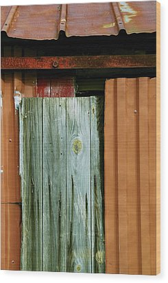 Patchwork Wood Print by Odd Jeppesen
