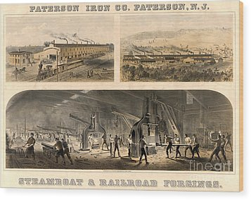 Paterson Iron Company Wood Print by Granger