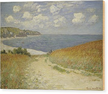 Path In The Wheat At Pourville Wood Print