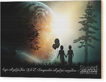 Path Of Imagination Wood Print by Eugene James