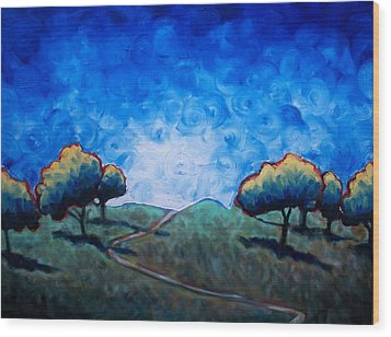 Path Through Las Trampas Wood Print by Sheila Tajima