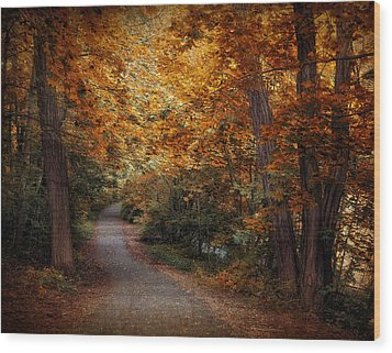 Path To Autumn  Wood Print by Jessica Jenney