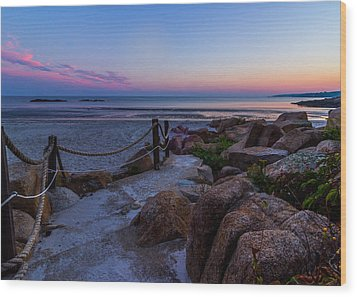 Path To The Beach Wood Print by Tim Kirchoff