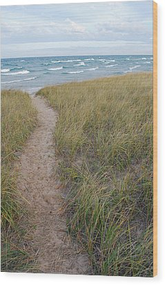 Path To The Beach Wood Print by Twenty Two North Photography