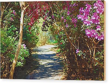 Wood Print featuring the digital art Path To The Gardens by Donna Bentley