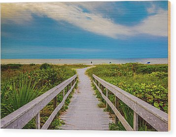 Path To The Sea Wood Print by Steven Ainsworth