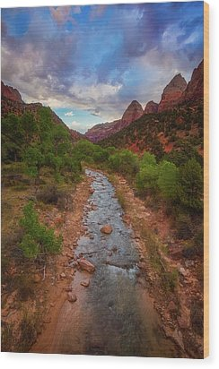 Wood Print featuring the photograph Path To Zion by Darren White