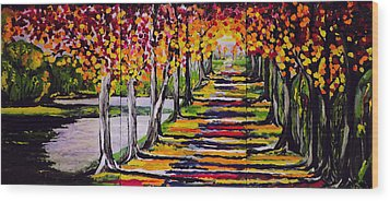 Pathyway To The Light Wood Print by Kathleen Sartoris