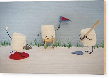 Patisserie Pastime Wood Print by Heather Applegate