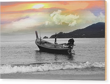 Patong Beach Wood Print by Mark Ashkenazi