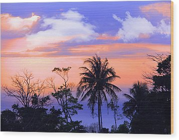 Patong Thailand Wood Print by Mark Ashkenazi