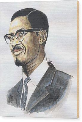 Patrice Emery Lumumba Wood Print