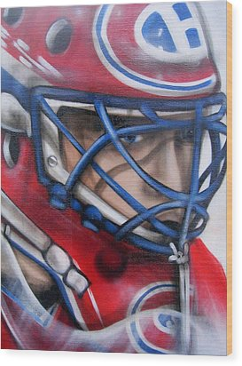 Patrick Roy ... Wood Print by Juergen Weiss
