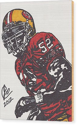 Patrick Willis Wood Print by Jeremiah Colley