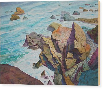 Wood Print featuring the painting Patricks Point by John Norman Stewart